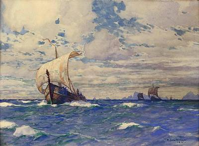 Bringing The Outdoors In - Viking Ships at Sea by Robert Prusso jr
