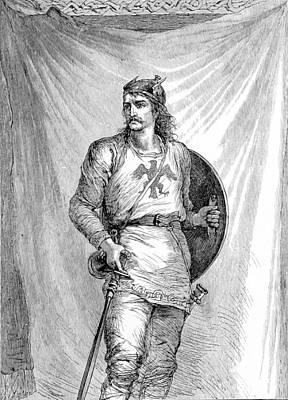 Norsemen Photograph - Viking Warrior by British Library