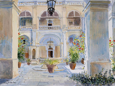 Garden Drawing - Vilhena Palace by Lucy Willis