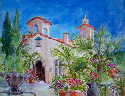 Wedding Chapel Painting - Villa Antonia by Sue Kemp