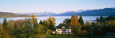 Villa At The Waterfront, Lake Zurich Print by Panoramic Images