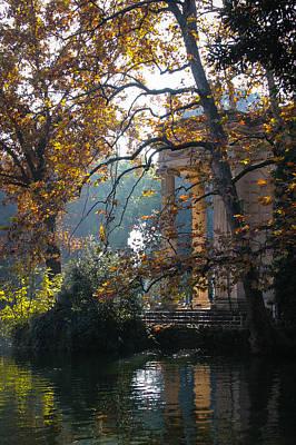 Villa Borghese Park Art Print by Glenn DiPaola