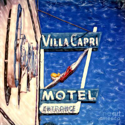 Mixed Media - Villa Capri by Glenn McNary