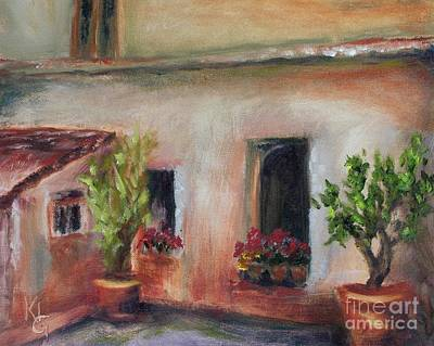 Painting - Villa Courtyard by Kathy Lynn Goldbach
