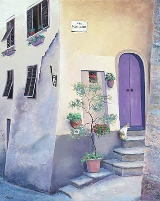 Cat Painting - Villa Degli Algeri Tuscany by Jan Matson