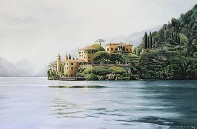 Lake Como Painting - Villa Del Balbianello - Lake Como by Gulay Berryman
