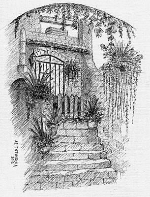 Villa Doorway Art Print