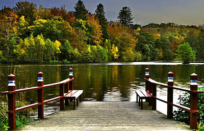 Photograph - Villa Gallina Autumn Colors Denmark by Henrik Petersen