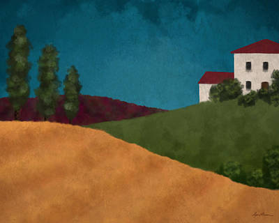 Tuscan Hills Digital Art - Villa I by April Moen