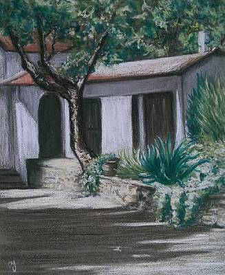 South Of France Painting - Villa In St Maxime by Anne Ingelbach