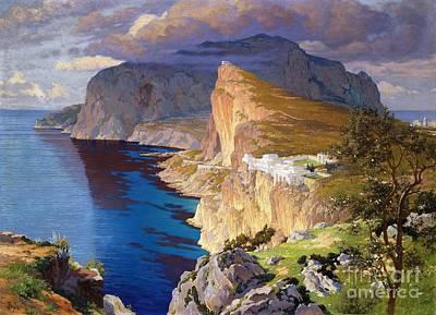 Villa Painting - Villa Jovis - Isle Of Capri by Pg Reproductions