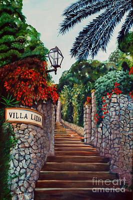 Painting - Villa Lidia by Nancy Bradley