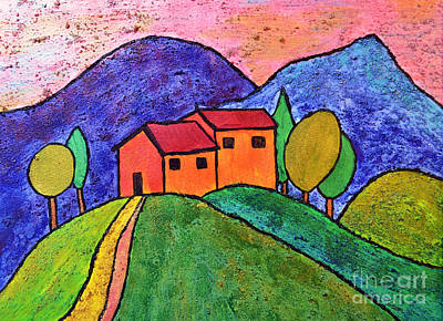 Painting - Villa On The Hill by Dion Dior