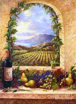California Vineyard Painting - Villa View by Gail Salituri