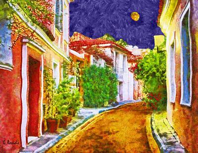 Greek Painting - Village 4 by George Rossidis