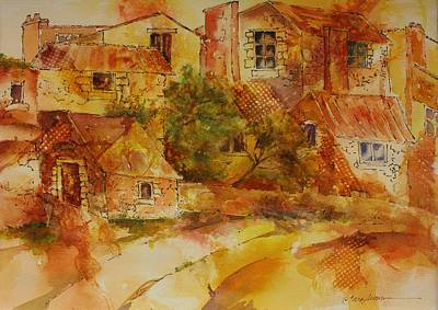 Painting - Village At Dawn by Tara Moorman