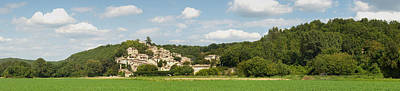 Village At Hillside, Rochegude Art Print by Panoramic Images