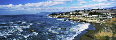 Cambria Photograph - Village At The Waterfront, Cambria, San by Panoramic Images
