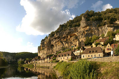 Aquitaine Photograph - Village At The Waterfront, La by Panoramic Images