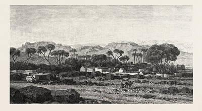 Village Between Assouan And Philae Art Print