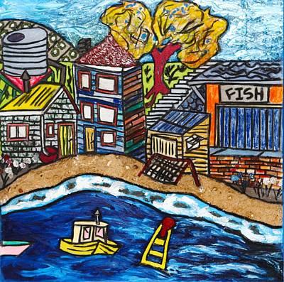 Village By The Sea Art Print