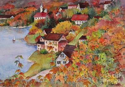 Village By The Sea Print by Sherri Crabtree
