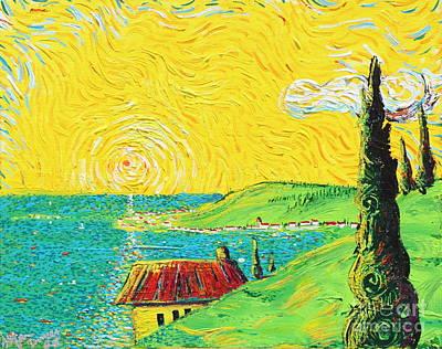 Village By The Sea Art Print by Stefan Duncan