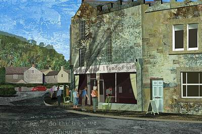 Village Cafe Art Print by Kenneth North