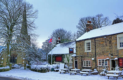 Photograph - Village Church And Pub by David Birchall