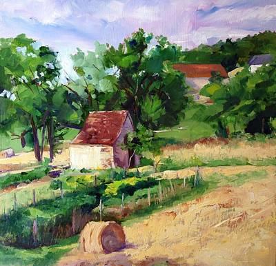 Village Farm France  Original by Carol Hopper