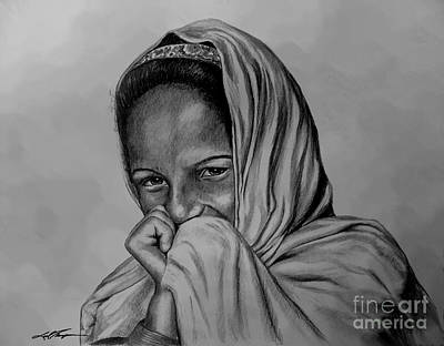 Indigenous Culture Drawing - Village Girl Of Afghanistan by Joel Thompson