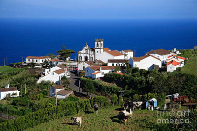 Village In Azores Islands Art Print