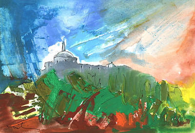Cathar Country Painting - Village In Cathar Country by Miki De Goodaboom