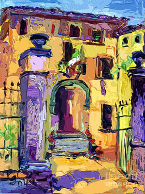 Painting - Village In Italy Government Building by Ginette Callaway