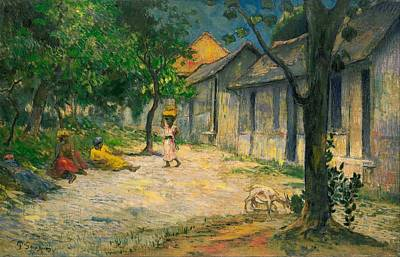 Jerusalem Painting - Village In Martinique by Paul Gauguin