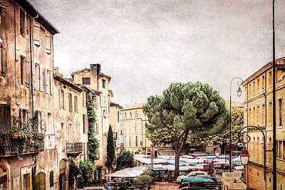 Village In Provence Art Print by Catherine Arnas