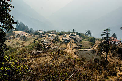 Himalayas Photograph - Village In Sikkim by Helix Games Photography