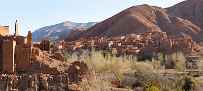 Village In The Dades Valley, Dades Art Print by Panoramic Images