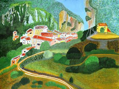 Painting - Village In The Mountains  by Magdalena Frohnsdorff