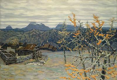 Russia Painting - Village In The Ural Mountains by Apollinari Mikhailovich Vasnetsov