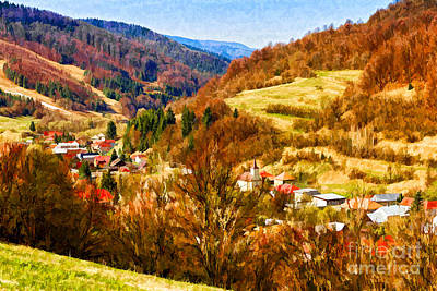 Photograph - Village In The Valley by Les Palenik
