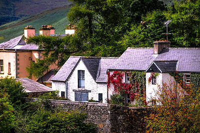 Best Irish Photograph - Village In The Wicklow. Ireland by Jenny Rainbow