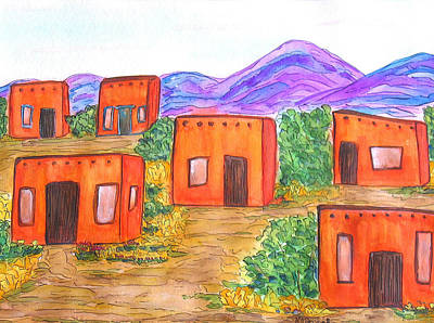 Painting - Village by Kerry Bennett