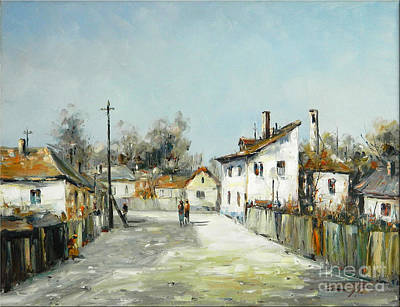 Denisa Laura Painting - Village Lane by Petrica Sincu