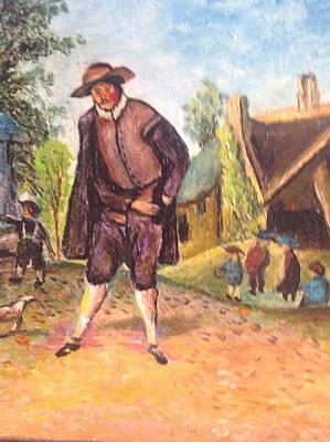 Art Print featuring the painting Village Man  by Egidio Graziani