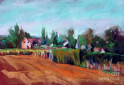 Village Of Fontain Forche Art Print by Virginia Dauth