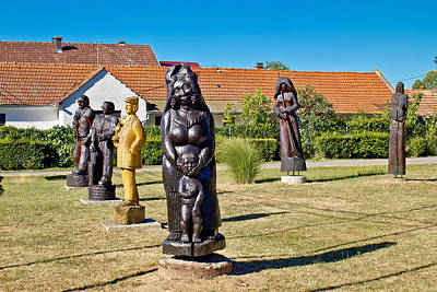 Photograph - Village Of Hlebine Wooden Statues by Brch Photography