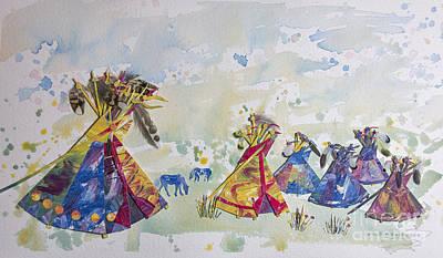 Parakeet Mixed Media - Village Of Hope by Shirley Robinett