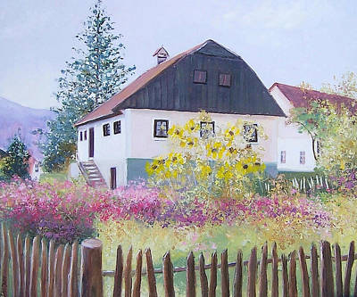 Croatia Painting - Village Of Kumrovec Croatia by Jan Matson