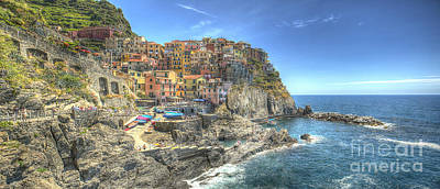 Photograph - Village Of Manarola by Alex Dudley